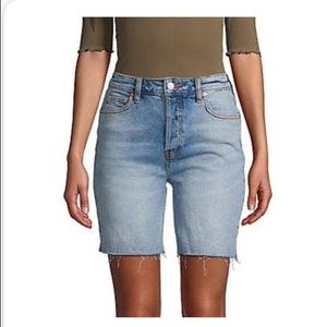 NWT Free people distressed denim Bermuda shorts